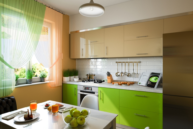 Bright color on your cabinets - or other areas of your kitchen - can help give the room a unique look.